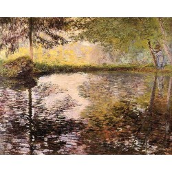 Pond at Montgeron by Claude Oscar Monet - Art gallery oil painting reproductions