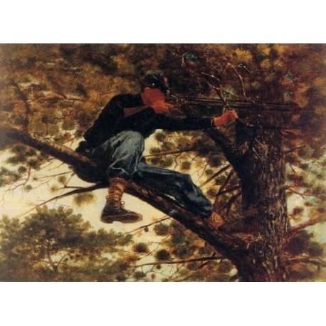 The Sharp Shooter on Picket Duty by Winslow Homer - Art gallery oil painting reproductions