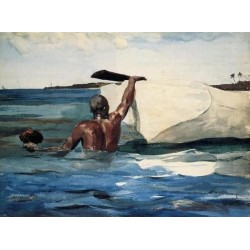The Sponge Diver by Winslow Homer - Art gallery oil painting reproductions