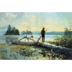 The Trapper, Adirondacks by Winslow Homer - Art gallery oil painting reproductions