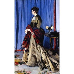 Portrait of Madame Gaudibert by Claude Oscar Monet - Art gallery oil painting reproductions
