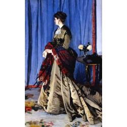 Portrait of Madame Gaudibert by Claude Oscar Monet - Art gallery oil painting reproductions