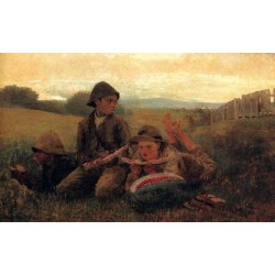 The Watermelon Boys by  Winslow Homer - Art gallery oil painting reproductions