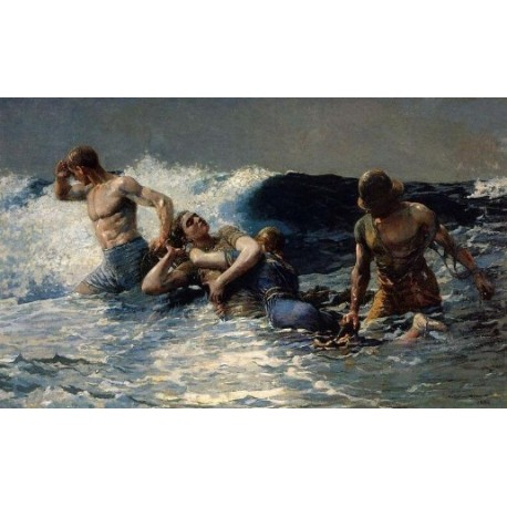 Undertow by Winslow Homer - Art gallery oil painting reproductions