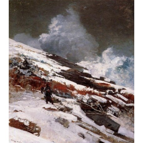 Winter Coast by Winslow Homer - Art gallery oil painting reproductions