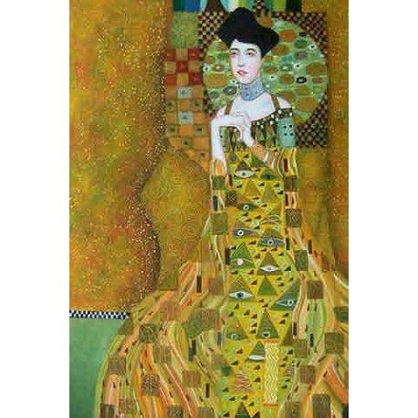 Adele Bloch Bauer by Gustav Klimt- Art gallery oil painting reproductions