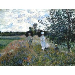 Promenade Near Argenteuil by Claude Oscar Monet - Art gallery oil painting reproductions