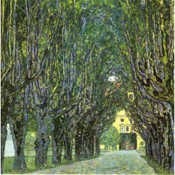 Avenue of Schloss Kammer Park by Gustav Klimt- Art gallery oil painting reproductions