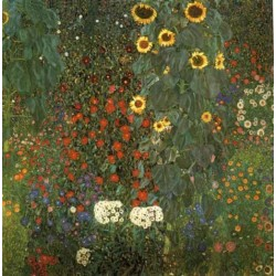 Country Garden with Sunflowers by Gustav Klimt- Art gallery oil painting reproductions