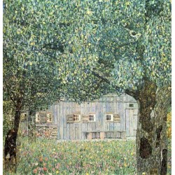 Farmhouse in Upper Austria by Gustav Klimt- Art gallery oil painting reproductions
