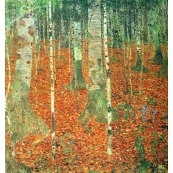 Farmhouse with Birch Trees by Gustav Klimt- Art gallery oil painting reproductions