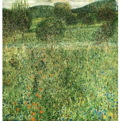 Flowering Field by Gustav Klimt- Art gallery oil painting reproductions