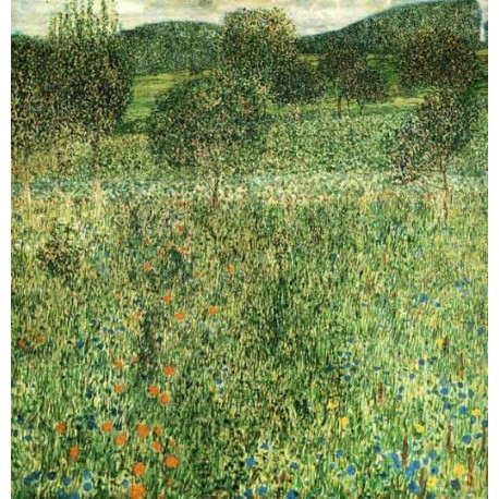 Flowering Field by Gustav Klimt- Art gallery oil painting reproductions