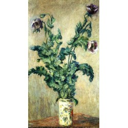 Purple Poppies by Claude Oscar Monet - Art gallery oil painting reproductions
