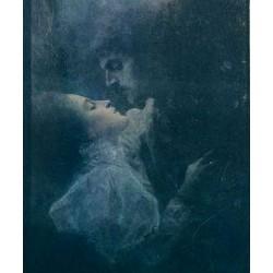 Love, detail by Gustav Klimt-Art gallery oil painting reproductions