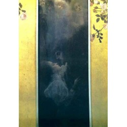 Love by Gustav Klimt-Art gallery oil painting reproductions