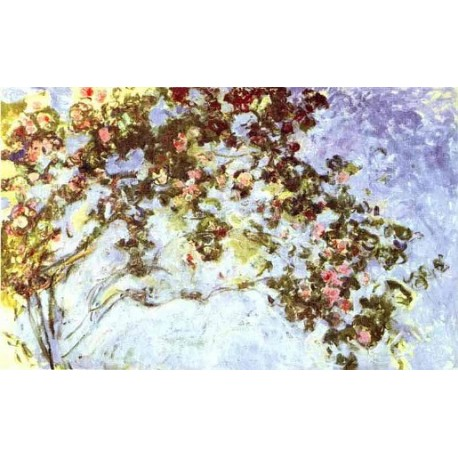 Roses by Claude Oscar Monet - Art gallery oil painting reproductions