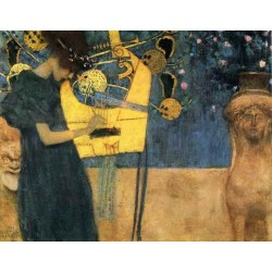 Music by Gustav Klimt-Art gallery oil painting reproductions