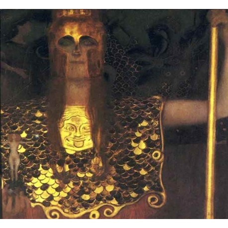 Pallas Athena by Gustav Klimt-Art gallery oil painting reproductions