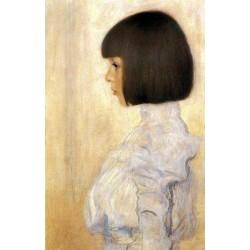 Portrait of Helene Klimt by Gustav Klimt-Art gallery oil painting reproductions