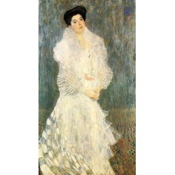 Portrait of Hermine Gallia by Gustav Klimt-Art gallery oil painting reproductions