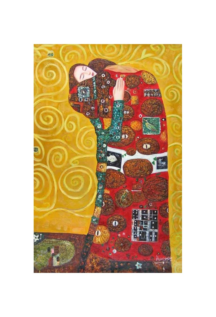 The Accomplishment 2 By Gustav Klimt Art Gallery Oil