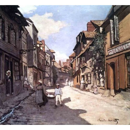 Rue de la Bavolle Honfleur by Claude Oscar Monet - Art gallery oil painting reproductions