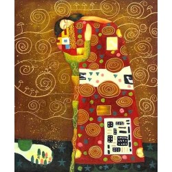 The Accomplishment 3 by Gustav Klimt-Art gallery oil painting reproductions