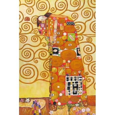 The Accomplishment by Gustav Klimt-Art gallery oil painting reproductions
