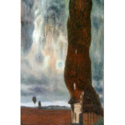 The Big Poplar by Gustav Klimt-Art gallery oil painting reproductions