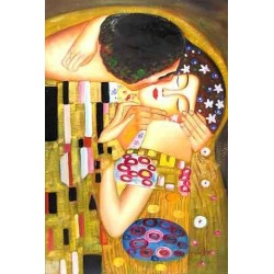 The Kiss, detail 2 by Gustav Klimt -Art gallery oil painting reproductions