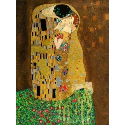 The Kiss by Gustav Klimt-Art gallery oil painting reproductions