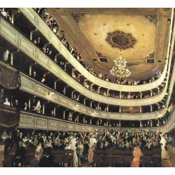 The Old Burgtheater by Gustav Klimt-Art gallery oil painting reproductions