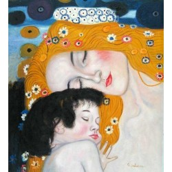 The Three Ages of Woman, detail by Gustav Klimt-Art gallery oil painting reproductions