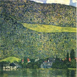 Unterach am Attersee by Gustav Klimt-Art gallery oil painting reproductions