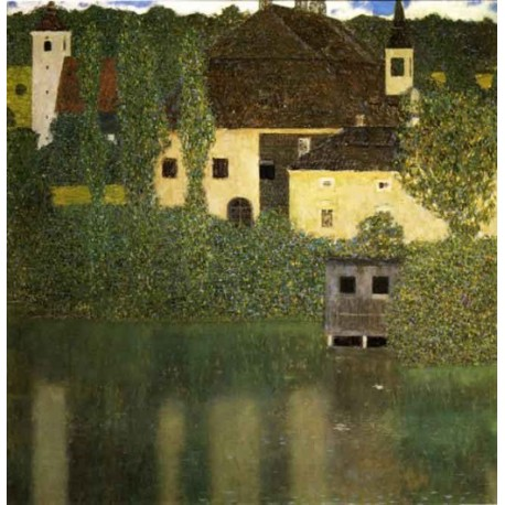 Water Castle by Gustav Klimt-Art gallery oil painting reproductions