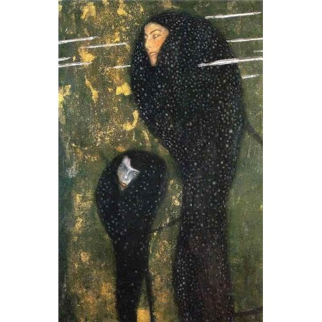 Water Nymphs by Gustav Klimt-Art gallery oil painting reproductions