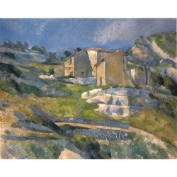 A House in the Provence, 1880 by Paul Cezanne-Art gallery oil painting reproductions