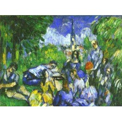 A Lunch on Grass by Paul Cezanne-Art gallery oil painting reproductions