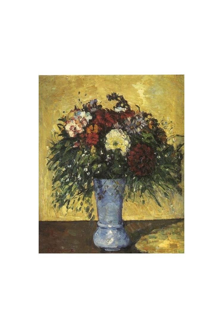 Bouquet In A Blue Vase 1873 By Paul Cezanne Art Gallery Oil