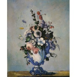 Bouquet in Rococo Style, 1876 by Paul Cezanne-Art gallery oil painting reproductions