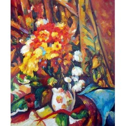 Chrysanthemums, 1876 by Paul Cezanne-Art gallery oil painting reproductions