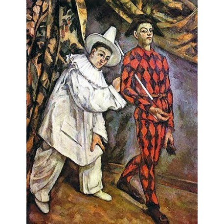 Mardi Gras by Paul Cezanne -Art gallery oil painting reproductions