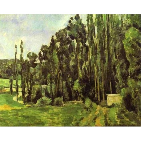 Poplar Trees by Paul Cezanne-Art gallery oil painting reproductions