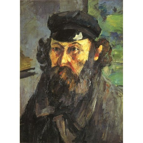Self Portrait, 1873 by Paul Cezanne-Art gallery oil painting reproductions