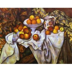 Still Life with Apples by Paul Cezanne-Art gallery oil painting reproductions
