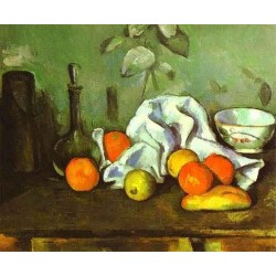 Still Life with Fruit by Paul Cezanne-Art gallery oil painting reproductions