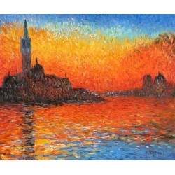 San Giorgio Maggiore by Twilight by Claude Oscar Monet - Art gallery oil painting reproductions