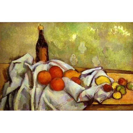 Still Life by Paul Cezanne-Art gallery oil painting reproductions