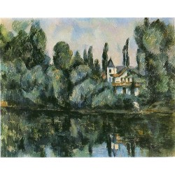 The Banks of the Marne, 1888 by Paul Cezanne-Art gallery oil painting reproductions